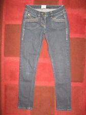 RIVER ISLAND Blue Skinny Jeans Zips Size 6 Short Leg