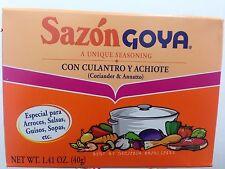 SAZON GOYA CON CULANTRO Y ACHIOTE -CORIANDER $ ANNATO 1.41 OZ