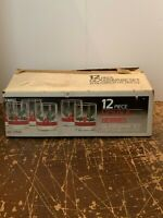 Vintage Libbey Glass Holly And Berries 14 Ounce Tumbler Set of 12 With Box