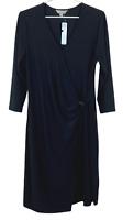 BNWT Suzanne Grae Womens Black Long Sleeve Dress Size L RRP$69.95