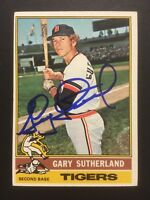 Gary Sutherland Tigers Signed 1976 Topps Baseball Card #113 Auto Autograph 2