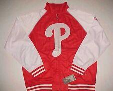 Philadelphia Phillies MLB NL Majestic Red White Full Zip Track Jacket 2XL New