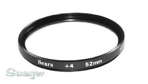52mm Sears +4 Close-Up Lens Filter