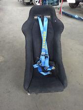 Prinz Sport Sitz Sitze Schwarz Stoff mit Schroth Dreipunkt Gurt mit Sitzerhöhung