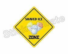 """*Aluminum* Shaved Ice Zone Funny Metal Novelty Sign 12""""x12"""""""