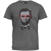 Abraham Lincoln Geek Glasses Adult Mens T-Shirt