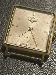 Vintage Gold Plated Vulcain Watch fully working