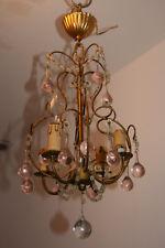 plafonnier lustre à pampilles gouttes de verre de couleur beaded chandelier