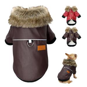 Hundemantel Hundebekleidung Leder Jacke Winterbekleidung Französische Bulldogge