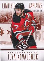 12-13 Limited Ilya Kovalchuk /199 CAPTAINS NJ Devils 2012