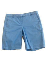 "J. Crew Womens Sz 8 Periwinkle Blue Bermuda Shorts 10"" Stretch City Fit Chino"