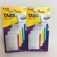 Post It Tabs 24 Durable Writable Repositionable 2 X 15 Tab 3m Lot Of 2 New