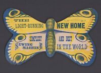 Original 1800s Light Running New Home Sewing Machine Advertising Label - Die Cut