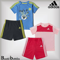 Adidas Summer Baby Girl Boy Outfit Set T-Shirt Shorts 0-3-6-9-12-18-24 Months