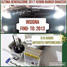 2 Lampadine XENON D1S OPEL INSIGNA FINO 2013 fari HID 6000K RICAMBIO Luci GHIACC