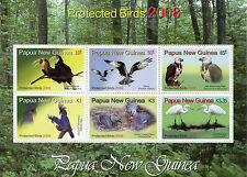 Papua New Guinea 2008 MNH Protected Birds 6v M/S Hornbill Osprey Eagle Egret