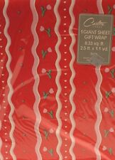 Vintage Carlton Gift Wrap Wrapping Paper Birthday Get Well Shower Sealed 1980