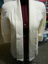 Alorna Misses New w/Tags Pure Wool Off White Long Jacket Sz 8 Made In USA