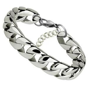 Bracelet for Men Women Curb Cuban Link Chain Stainless Steel Men Women Bracelet