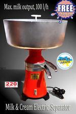 Milk Cream Electric Centrifugal Separator Metal 100lh New Motorsich Ukraine