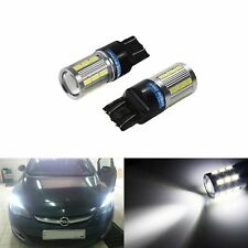 2x T20 7443 582 580 W21/5W LED 6W Sidelight Daytime Running Light Bulb DRL White
