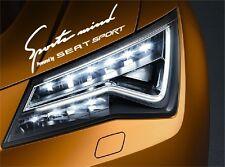 Sports Mind Powered by Seat sport Aufkleber Sticker  Ibiza Leon Toledo Cupra...