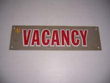 "Vintage Plastic Vacancy Sign 14"" x 4"""