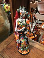 Day of The Dead Catrina Frida Kahlo Mexican Talavera Ceramic NEW