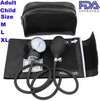 Manual Blood Pressure Monitor BP Cuff Gauge Aneroid Sphygmomanometer Machine Set