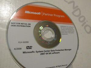 DVD Original System Center Date Protection - Microsoft Partner Program 2007