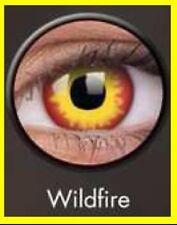 Crazy Color Contact Lens Lentilles Kontaktlinsen Wild Fire Red Yellow Rot Devil