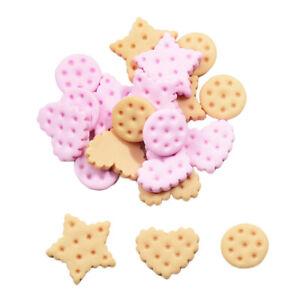Pack 20 Mix Harz Flatback Cookies flach zurück Cabochon Kawaii DIY