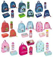 Kindergarten Rucksack Set für Mädchen und Jungen mit Dose Flasche Turnbeutel NEU