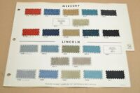 ★★RARE-1965 MERCURY-LINCOLN-AMC INTERIOR SEAT FABRIC COLOR UPHOLSTERY SAMPLES