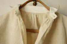 Antique Night Shirt Chemise Long Sleeve Linen Hemp Tone Undergarment PC Monogram