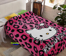 "New Design Hello Kitty Cute Supersoft Plush Bedroom Blanket Throw Cover 59""x78"""