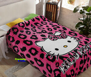"""New Design Hello Kitty Cute Supersoft Plush Bedroom Blanket Throw Cover 59""""x78"""""""