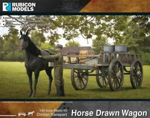 RUBICON - 28MM HORSE DRAWN WAGON - WORLD WAR 2 - 280090