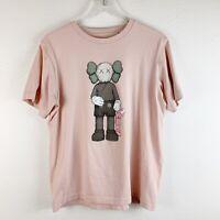 Uniqlo KAWS Unisex Companion Graphic Pink T-shirt Large