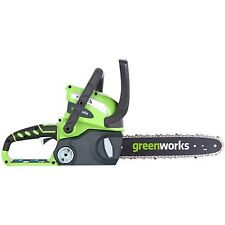 Greenworks 40 Volts 12 Inch Cordless Chainsaw Battery Powered Cutting Equipment