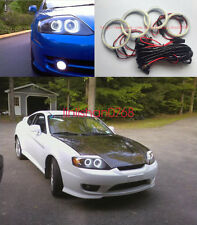 4x Excellent SMD 7000K Angel Eyes kit For Hyundai Tiburon 2003-2006 Halo Ring