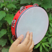 FJ- SN_ KF_ 6/7/8'' Wooden Tambourine Drum Toy Round Percussion Musical Beat Ins