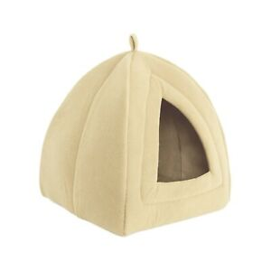 PETMAKER Cat Pet Bed, Igloo- Soft Indoor Enclosed Covered Tent/House for Cats...