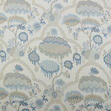 "Ballard Designs Allie Sky Blue Botanical Tree 100% Linen Fabric By Yard 54""W"