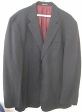 Gianni Versace Classic V2 Mens Black Suit Jacket Size Euro 56 Made in Italy 46 U