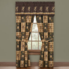 Browning Country Quilted Drapes FREE VALANCE AND SHIPPING