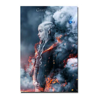 Game of thrones 7 Emilia Clarke Silk Fabric Poster Canvas Art Print 12x18 24x36