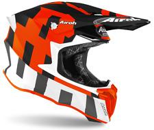 Motorcycle Helmet cross Airoh Twist 2.0 Frame Orange Matt Enduro off Road Motard