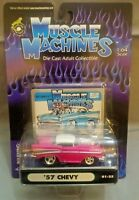 Muscle Machines 1957 '57 Chevy Pink 1:64 Scale 01-25 RARE