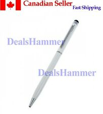 2in1 Capacitive Touch Screen Stylus Ball Point Pen For IPad IPhone IPod WHITE